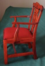 """1/4 or 1/3 Red cushion wooden armchair for dolls--BJDs & others best for 16""""-22"""""""