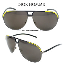 DIOR HOMME 0158S 0AHHJ Aviator Sunglasses Black & Yellow 100% Authentic & New