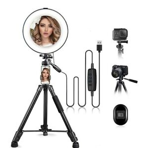 """10"""" Ring Light with Stand and Phone Holder,RingLight with 52"""" Extendable Tripod"""