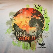 HARD ROCK CAFE HONG KONG ONE WORLD T-SHIRT SIZE ADULT X-LARGE - NEW WITH TAGS
