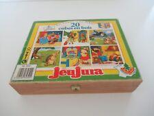 👿Jouet Boîte à Cubes En Bois Jeujura 20 Cubes Les Contes Et Les Fables Réf 8560