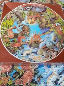 MAMMALS Circular Jigsaw Puzzle (500 Piece) 1973 VINTAGE - Waddingtons