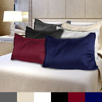 2X King Size Luxury Silky Satin Pillowcase Set Soft Smooth Cushion Cover 6 Color