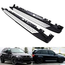 Bolt On Side Step Skirt Rail Guard Protection Bar Running Board 07-13 BMW X5 E70