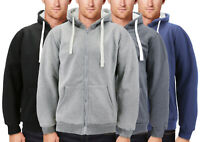 Men's Thermal Zip Up Hoodie Sweater Warm Heavyweight Sherpa Lined Jacket
