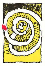 Alechinsky  -  1972  -  Lithographie - '' Automne Jaune ''