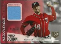 2019 Topps Update PATRICK CORBIN ML Material Relic 150th 64/150 Nationals Jersey