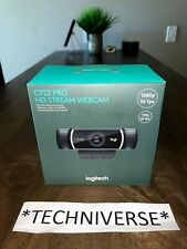 Logitech C922 Pro HD Stream Webcam 960-001087 New/Sealed Express Ship Avail!!