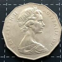 1971 AUSTRALIAN 50 CENT COIN - EF