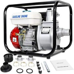 """158GPM 2"""" Gas Semi Trash Water Pump Petrol High Pressure Lawn Garden Irrigation"""