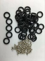 100X O-Rings + 100X Screws O-Rings bands GI Joe Cobra Action Force orings Toys