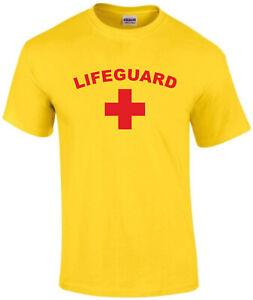 LIFEGUARD T-SHIRT, BEACH, PARTY, FANCY DRESS, BAYWATCH, THE HOFF, ALL SIZES