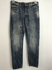 PRPS Pit Rambler Distressed Jeans 30 X 34 Button Fly 13.75oz Japanese Selvedge
