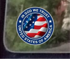 "ProSticker 1072 (One) 4"" In God We Trust United States of America Decal Sticker"