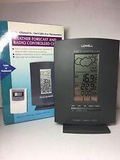 OROLOGIO RADIOCONTROLLATO CON PREVISIONI METEO E TERMOMETRO LOWELL REF BAR888