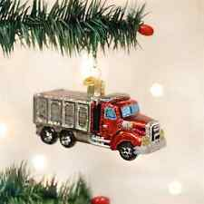 *Dump Truck* Toy Sandbox [46050] Old World Christmas Glass Ornament - NEW