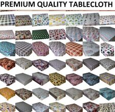 WIPE CLEAN TABLECLOTH PVC OILCLOTH VINYL WIPEABLE TABLE CLOTH COVER PROTECTOR