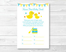 Rubber Duck Name That Baby Food Baby Shower Game Printable
