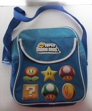 "Nintendo Super Mario Bros. 2010 Zippered Backpack Book Bag Canvas 12"" Blue Rare"