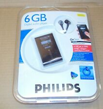 New Philips GoGear Micro Jukebox Mp3 6Gb Digital Audio Player SensoryTouchpad
