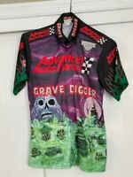 2008 Grave Digger Advance Auto Parts Monster Jam Race Used Pit Crew Shirt Small