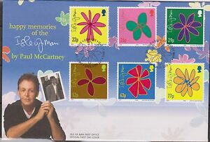2002 Happy Memories of the Isle of Man by P.McCartney/Drawings SG 995-1000 USED