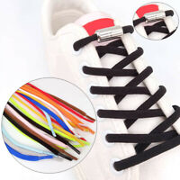 11 Colors Elastic Locking Shoelaces Sneakers Quick Lazy Shoe Laces Shoestrings #
