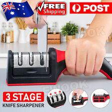 AU Knife Sharpener 3 Stage Kitchen Diamond Sharp Knives Scissor Sharpening Tool