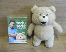 "Official TED The Movie 11"" Talking TED Plush Soft Toy Bear & Sealed Ted 1& 2 Dvd"