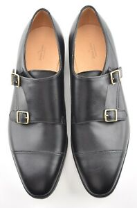 NEW w BOX | JOHN LOBB 11.5 E UK WILLIAM BLACK DOUBLE MONK STRAP DRESS SHOES