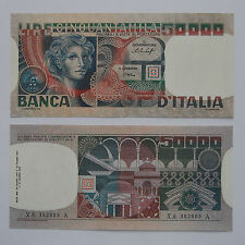 RIPRODUZIONE 50000 LIRE VOLTO DI DONNA STAMP FILIGRANA REPUBBLICA BANCA D'ITALIA