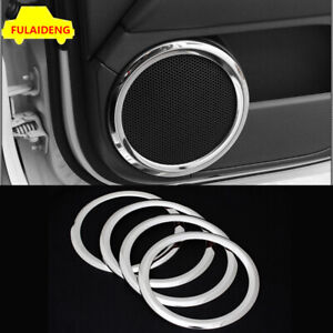 4x For jeep patriot compass 2011-2016 ABS Chrome Interior door speaker ring trim