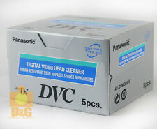 5x Panasonic Ay-dvmclww Mini DV HDV Digital Video Head Cleaner Tape Made Japan