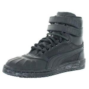 Puma Mens Sky II Hi Black Faux Leather Casual Boots Shoes 6 Medium (D) BHFO 4650