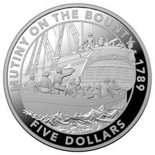 Australien 5 Dollar 2019 - Meuterei auf der Bounty - 1 Oz Silber PP