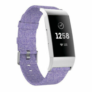 Wrist Strap For Fitbit Charge 4 / 3 / SE Nylon Woven Fabric Watch Band Bracelet