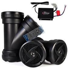 """1200W Waterproof Y Speaker System 4 x 6.5"""" w Amplifier ATV UTV 4x4 Off-Road Boat"""