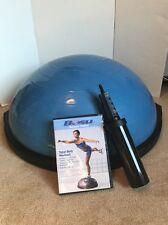 BOSU Blue Ball Yoga Balance Trainer Pump & DVD Ships FREE!