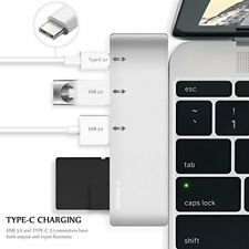X-DNENG USB C Hub with 2 super speed USB 3.0 ports, 1 SD memory port, 1 micro SD