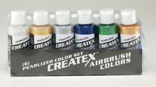Createx Airbrush Colors Pearl Airbrush Paint Set Water Based 6 * 2oz