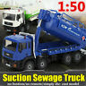 Vacuum Sewage/Waste Water Suction Truck Model Toys Kids Gift 1:50 Scale Diecast