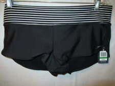 Speedo Black White Powerflex Eco Block the Burn Swim Shorts Size L $48 New