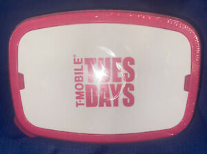 T-Mobile-Tuesday Lunch Box Container Bento Food Storage Meal Prep + Fork & Knife