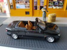 Peugeot 306 MINICHAMPS CABRIOLET NOIR NEUF  RARE 1995