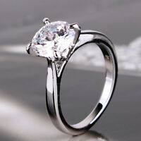New arrival!18k white gold filled white sapphire distinctive design ring SzJ-SzR