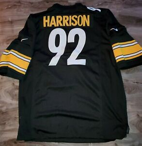Nike On Field James Harrison #92 Pittsburgh Steelers NFL SEWN MENS SZ XXL JERSEY