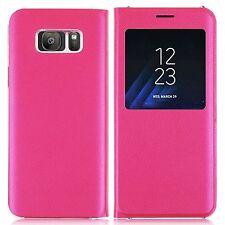 A prueba de choques Cuero de lujo S-View Billetera Abatible Estuche Cubierta Para Teléfono Samsung Galaxy