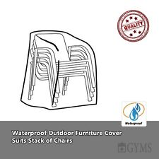 Waterproof Outdoor chair Cover, Suits Stack of Chairs, single outdoor Chair