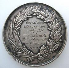 Belgium Ar Medaille tekenschool Waregem Bouwkunde 1908 Leopold II Wiener 38mm