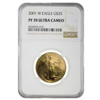 2001 W 1/2 oz $25 Proof Gold American Eagle NGC PF 70 UCAM